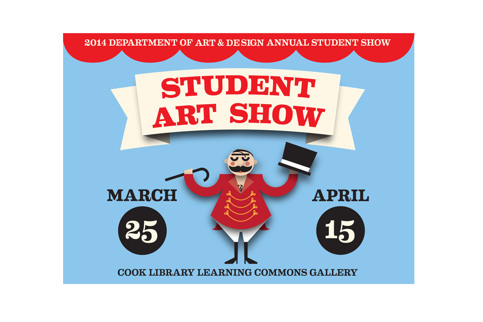 student show postcard