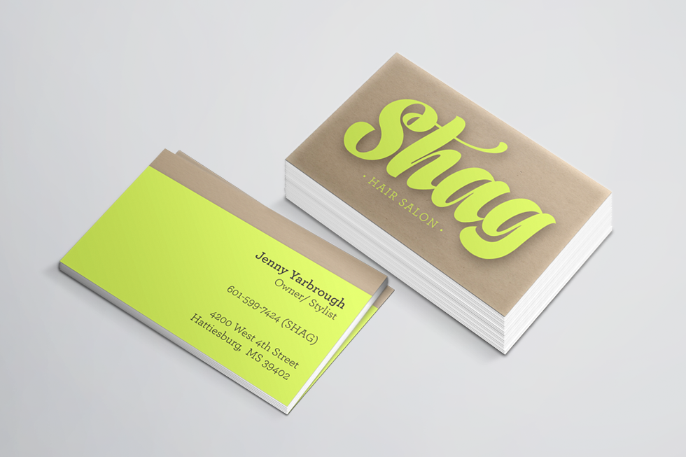 shag new business cards